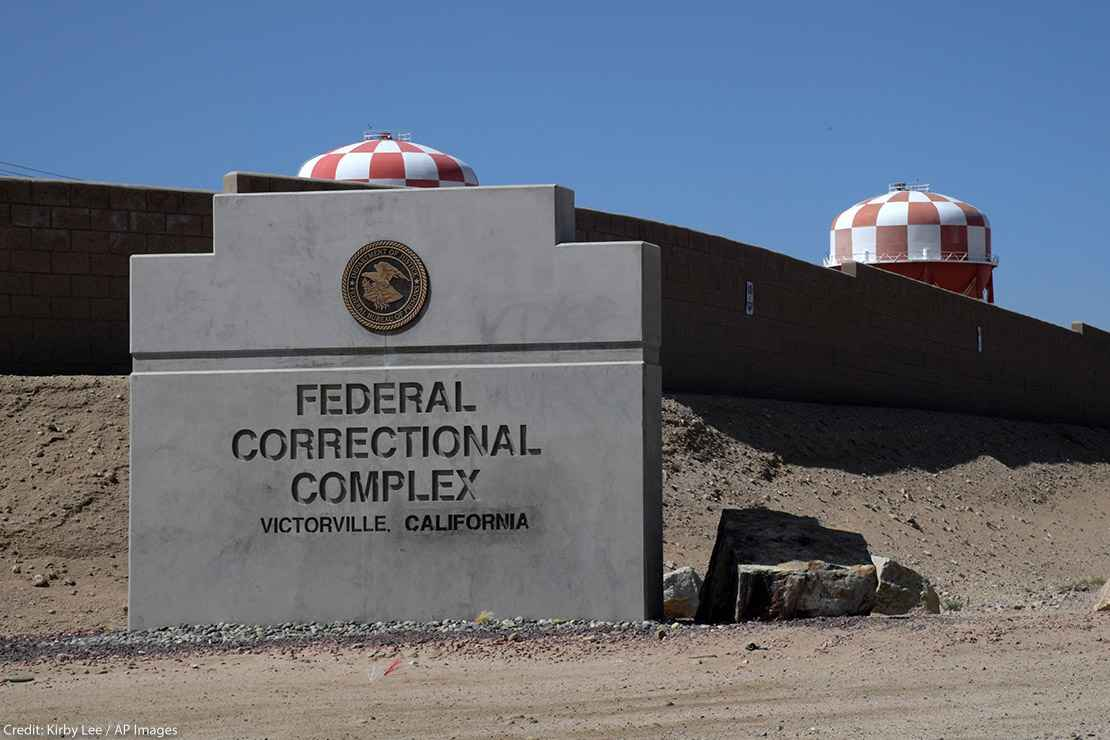 A general view of the Federal Correctional Complex in Victorville, California
