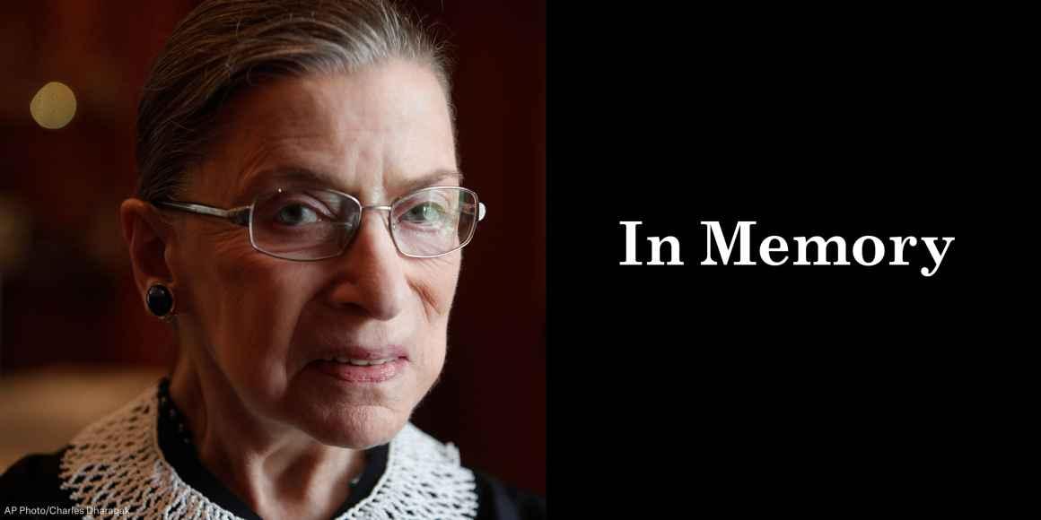 Ruth Bader Ginsburg: In Memory