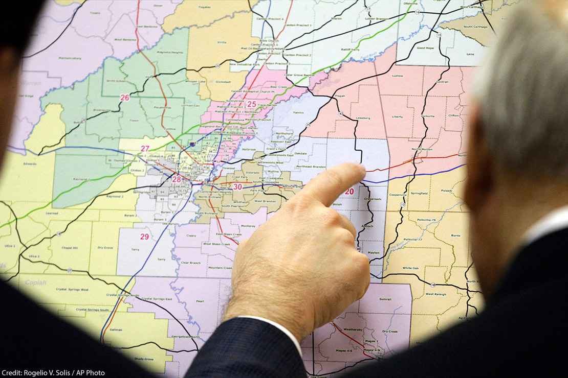 Lawmakers review changes in Senate districts on the oversized map