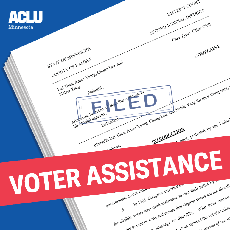Voter Assistance Lawsuit Filed