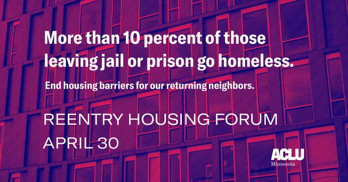 reentry housing forum April 30