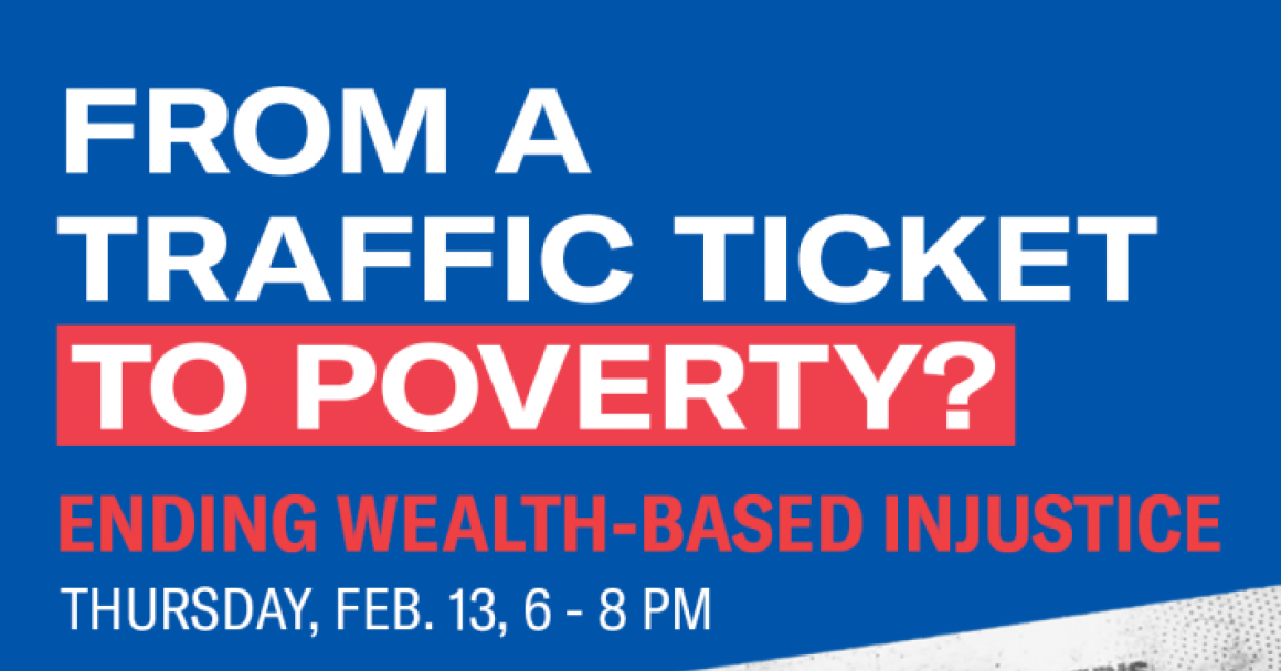 How can a traffic ticket lead to poverty?